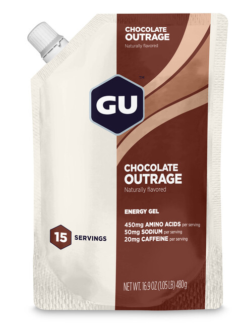 GU Energy Gel Vorratsbeutel Chocolate Outrage 480g